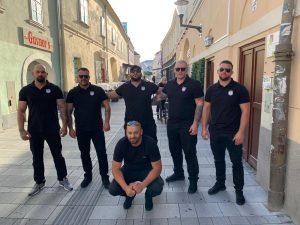 Mitglieder des Sicherheitsteams